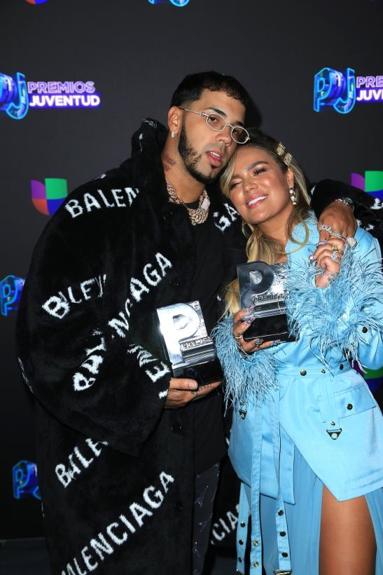 Anuel AA y Karol G - Premios Juventud 2019 Ganadores - Stars World Production.
